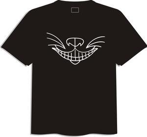 T-shirt med tryck, svart