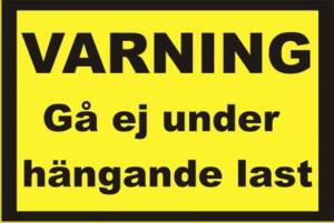 Varningsdekal last