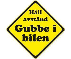 """Varningsdekal """"gubbe - tant"""""""